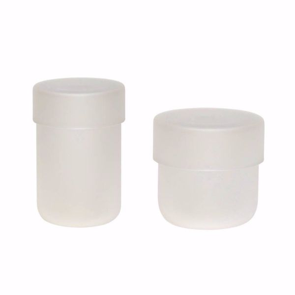 GLASS STORAGE JAR - SMALL FROSTED WHITE - BY HÜBSCH STORAGE JAR HUBSCH