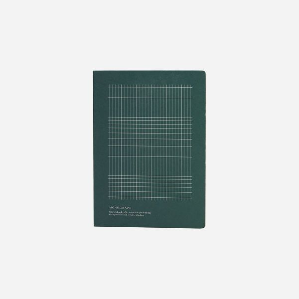 GEOMETRIC GREEN NOTEBOOK - A4 - BY MONOGRAPH