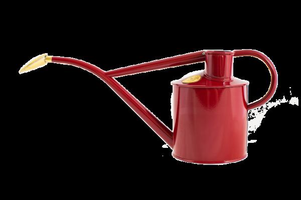 Haws handmade metal indoor watering can in burgundy