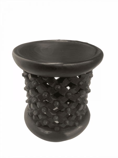 Bamileke Stool \ Table - 36cm - Black