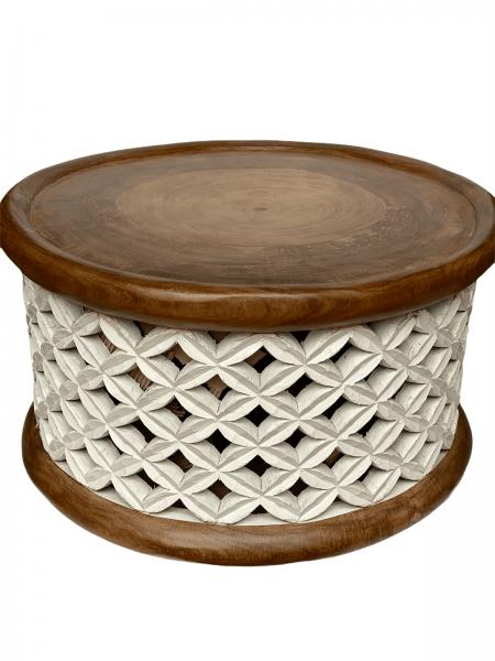 Bamileke Table - 78cm - Natural/white Large