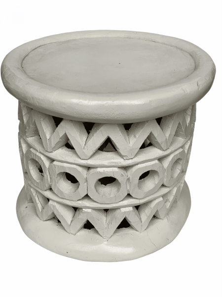 Bamileke Table - 48cm - White