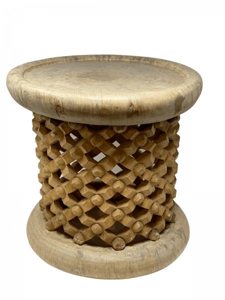Bamileke Stool \ Table - 40cm - Natural