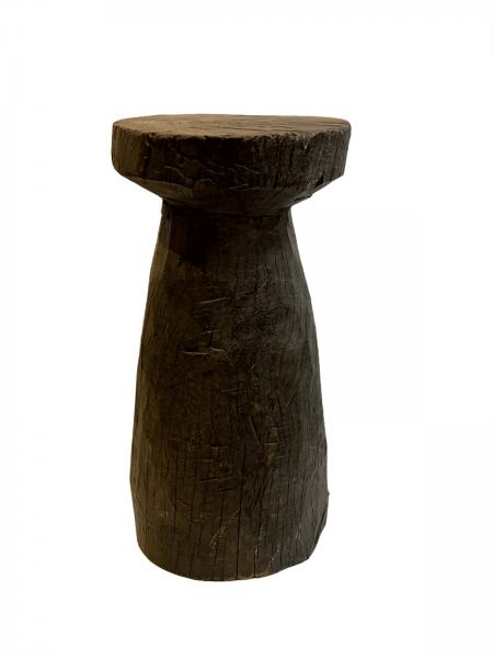 Lozi Grain Stomper Stool/Side Table (1) - Zambia