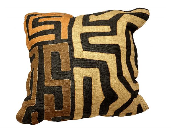 African Kuba cloth cushion 50x50cm