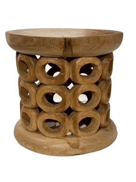 Bamileke Stool \ Table - 40cm - Natural - Doughnut