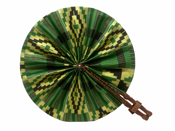 Ghana Fan - Leather fold up