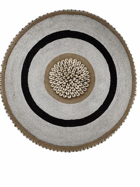 Cameroon Shield - L - 55cm - Black & White