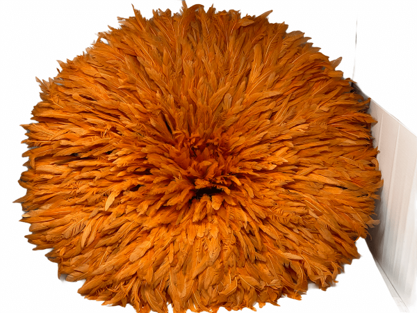 Juju Hat - Orange feathers - 70cm