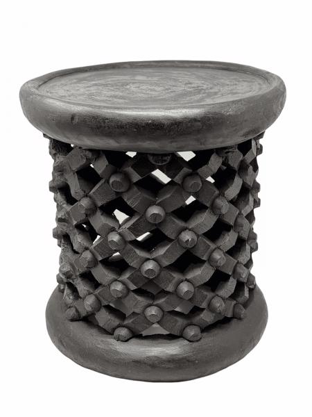 Bamileke Stool - Black - 35cm D