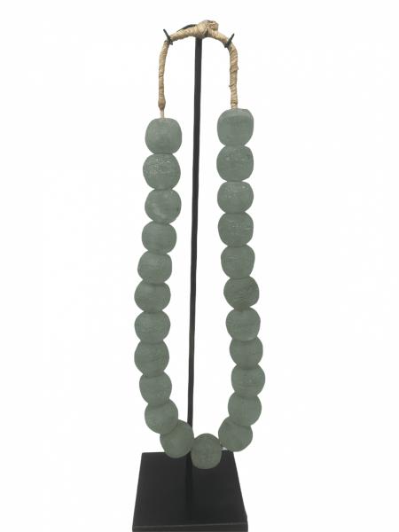 Ghana Glass beads Turquoise- Large