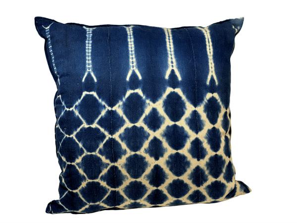 Indigo/Baule Cloth Cushions 60x60cm