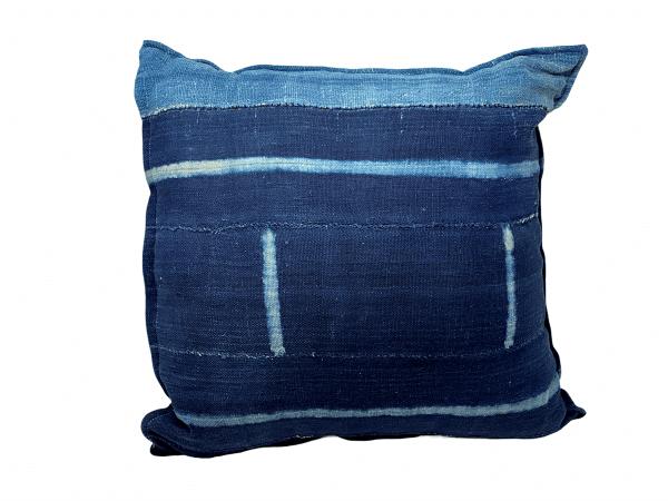 Indigo/Baule Cloth Cushions 50x50cm