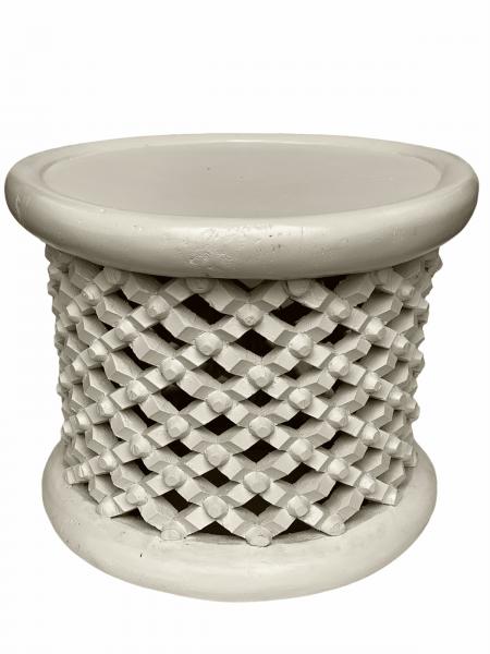 Bamileke Table - 55cm - White
