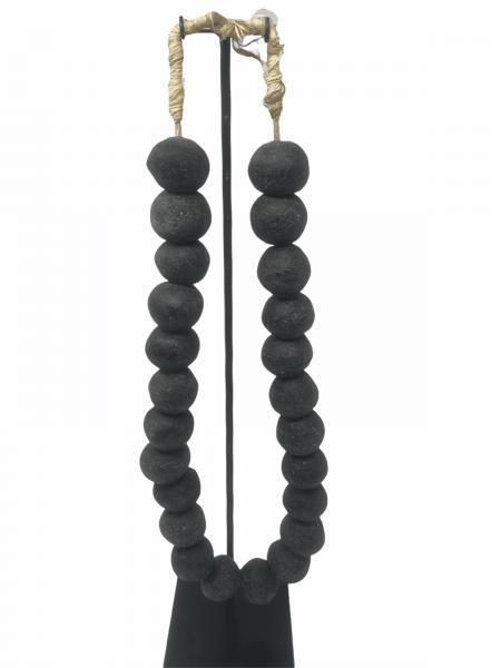 Ghana Glass beads Black - Large