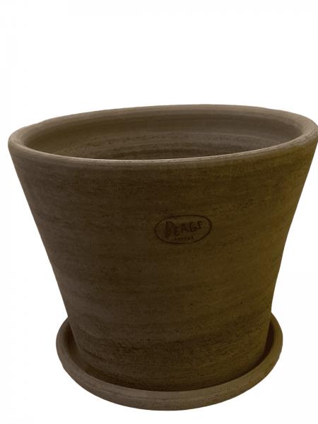 Julie Plant Pot and Saucer - Grey