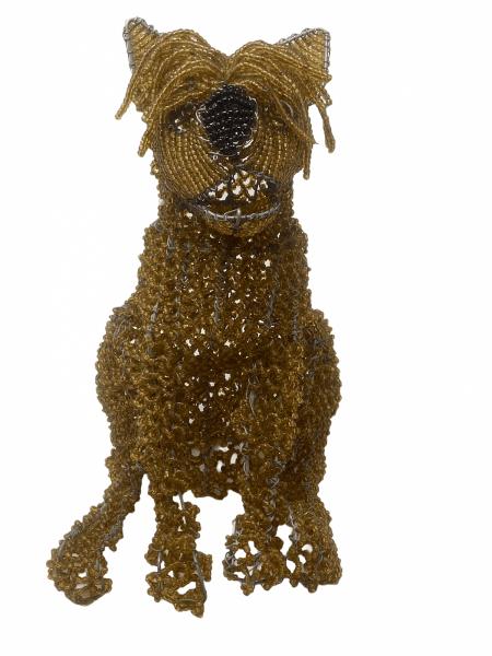 Yorkshire Terrier - Beaded Sculpture