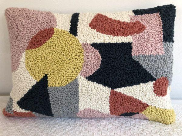 Punch Needle Cushion - Geometric Pattern 3