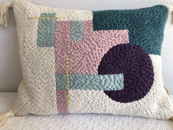 Punch Needle Cushion - Geometric Pattern 2
