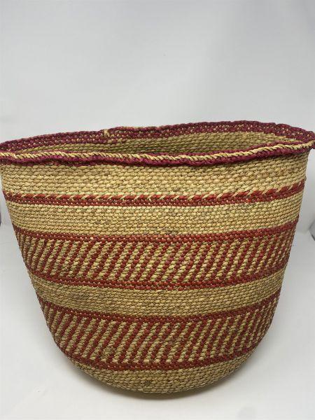 Iringa Basket - Russet Red Pattern - L
