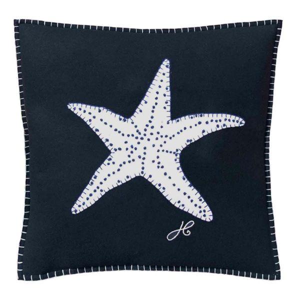 The Jan Constantine Starfish Cushion (Navy)