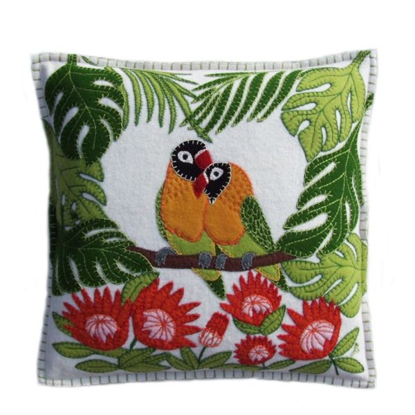 Jan Constantine Tropical Love Birds Cushion