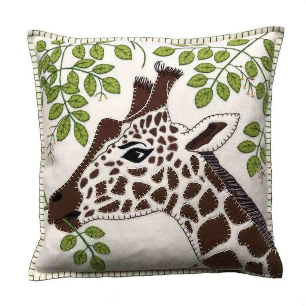 Jan Constantine Giraffe Cushion (Cream)