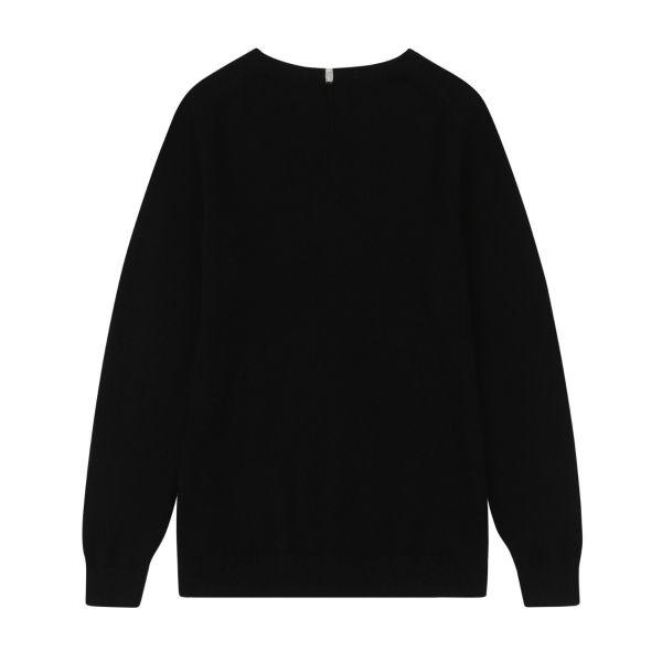 Cashmere Crew Neck Sweater in Black
