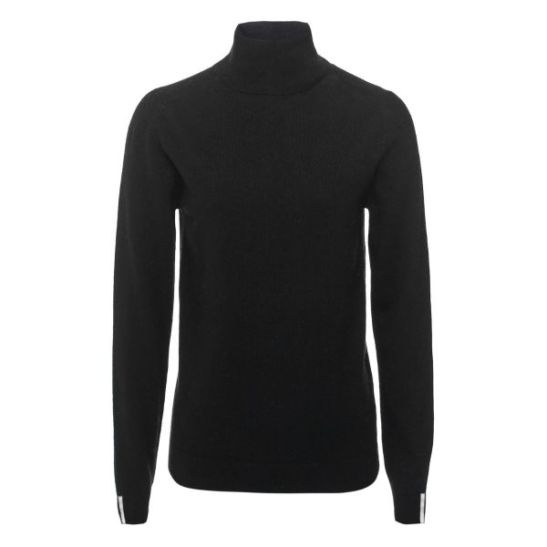 Cashmere Polo Neck Sweater in Black