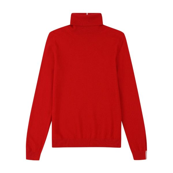 Cashmere Polo Neck Sweater in Rouge