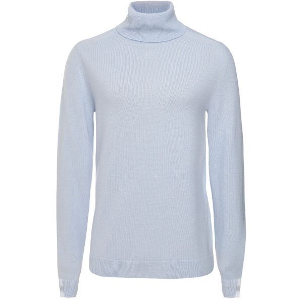 Cashmere Polo Neck Sweater in Whisper