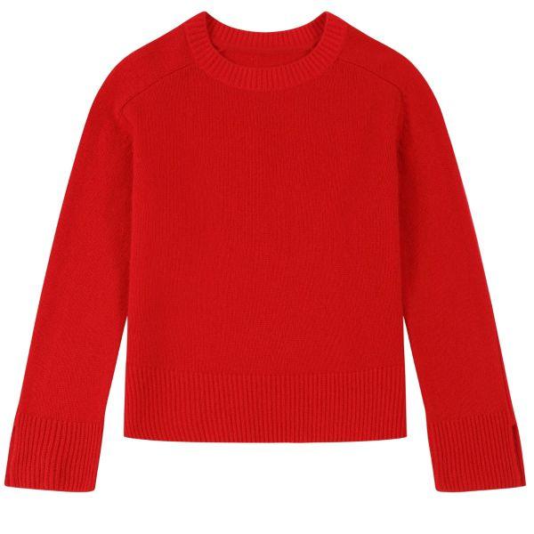 Cashmere Sweatshirt in Rouge