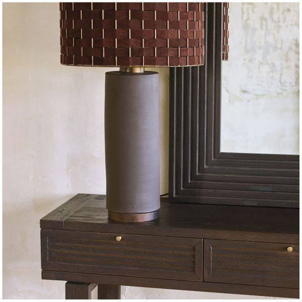 Brown MAEL lamp and its lampshade