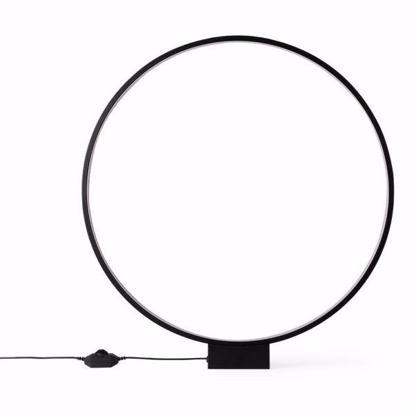 LUMINOUS CIRCLE LAMP BLACK lamp I am Nomad