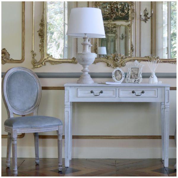Marie Antoinette Chair in Grey Velvet