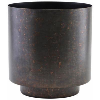 Matt Iron and Black Plant Pot