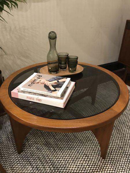 Mid Century Glass Coffee Table