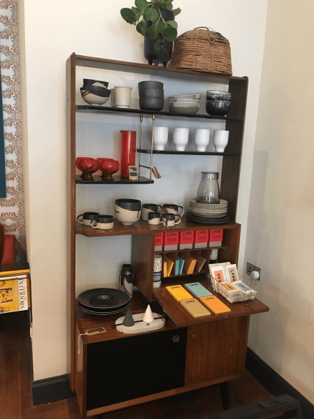 mid century shelf sideboard