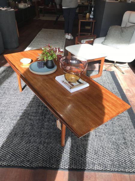 Mid-Century surfboard style coffee table