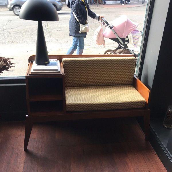 mid century telephone seat - store