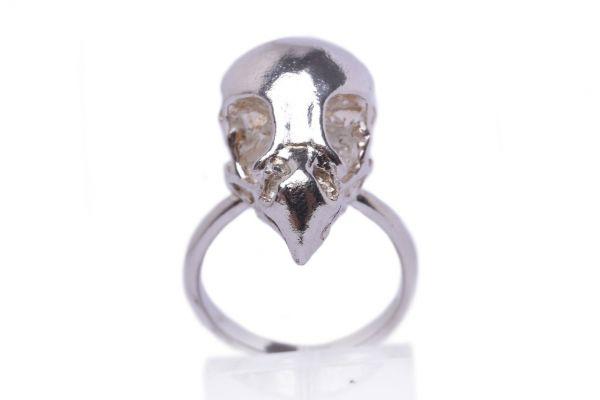 Handmade Sterling Silver bird of prey ring by MISAN jewellery