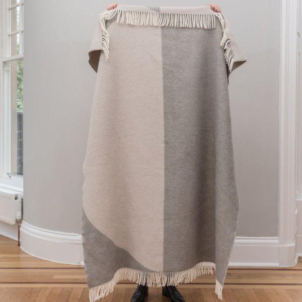 Pure New Wool Throw | Moon Grey