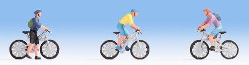 Mountain bikers (x3) Figure Set