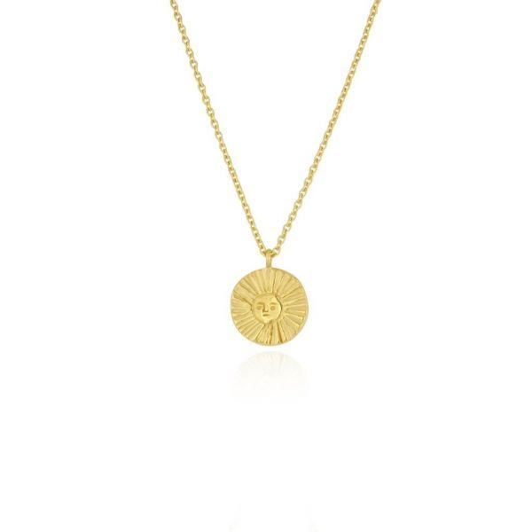 Momocreatura Sun Disc Necklace Gold