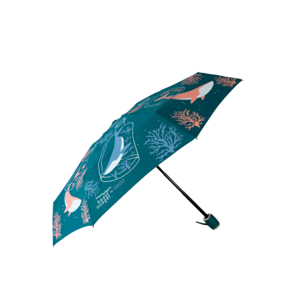product picture of the Pacific Blue umbrella by French brand Beau Nuage