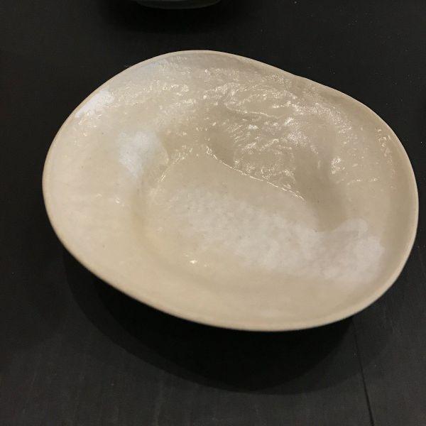 PORCELAIN JEWELLERY DISH - ALMOND/WHITE STRIPE Dish LINA WIL