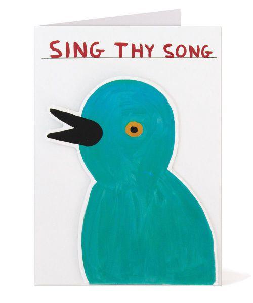 Sing Thy Song Greeting Card David Shrigley