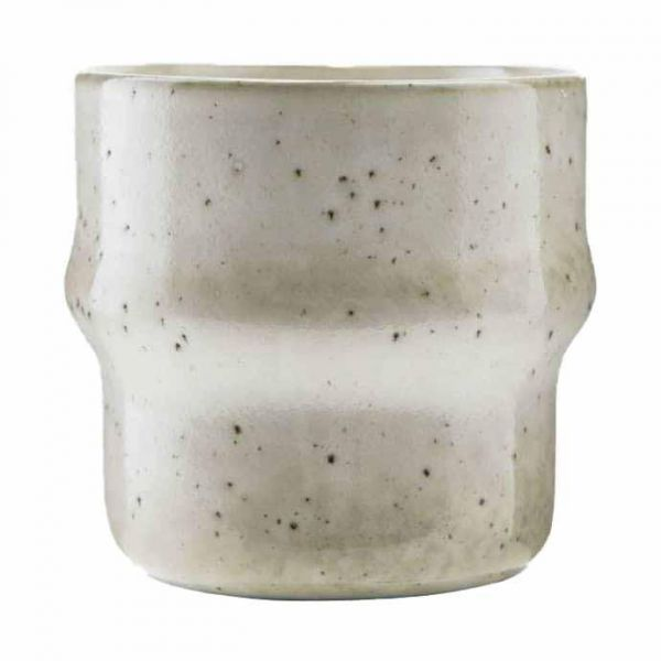 Small Stoneware plant pot / light grey