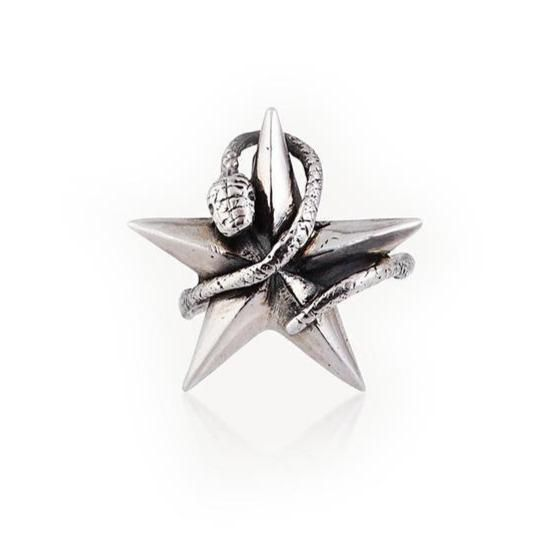 Momocreatura Snake Star Ring Sterling Silver