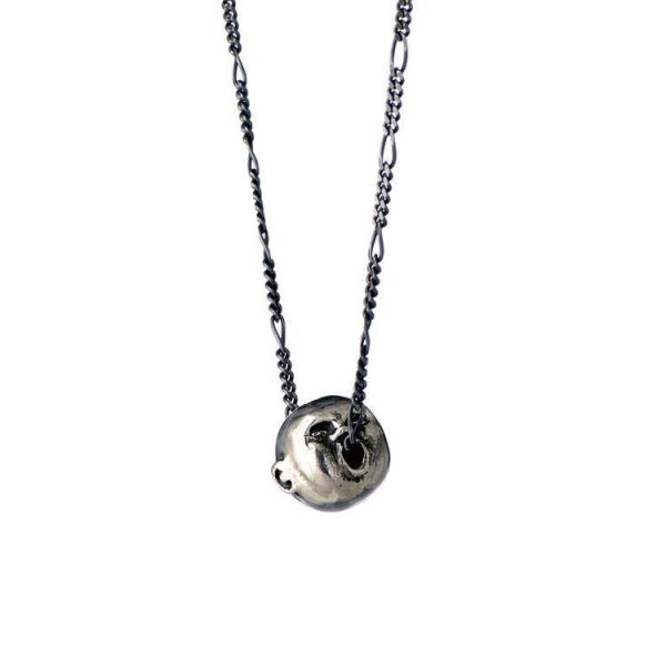 Momocreatura Spirit of Love Oxidised Silver Pendant Necklace